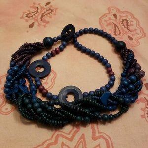 Vintage Wood Beads Belt